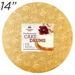 """14"""" Gold Round Thin Drum 1/4"""""""