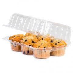 1/2 Dozen Cupcake Container (6 cavities), 100 ct