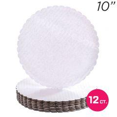 """10"""" White Scalloped Edge Cake Boards, 12 ct"""