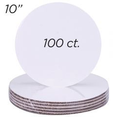 "10"" Round Coated Cakeboard, 100 ct"