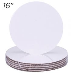 "16"" Round Coated Cakeboard, 6 ct"