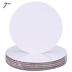 "7"" Round Coated Cakeboard, 6 ct"