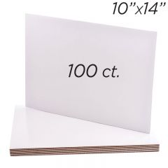 10x14 Rectangle Coated Cakeboard, 100 ct
