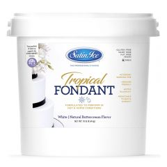 Satin Ice Fondant White Tropical 10#