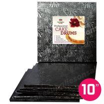 """10"""" Black Square Drum 1/2"""", 6 count"""