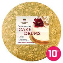 """10"""" Gold Round Drum 1/2"""""""