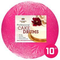 """10"""" Pink Round Drum 1/2"""""""