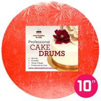 """10"""" Red Round Drum 1/2"""""""