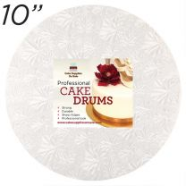 "10"" White Round Thin Drum 1/4"""