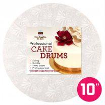 """10"""" White Round Drum 1/2"""""""