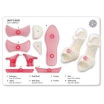 Lady's Shoe- Set of 8
