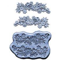Silicone Mold - Flower W/Scrolls