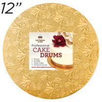 """12"""" Gold Round Thin Drum 1/4"""""""