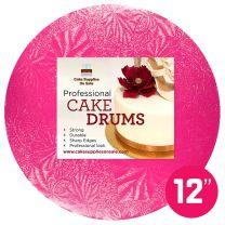 """12"""" Pink Round Drum 1/2"""""""