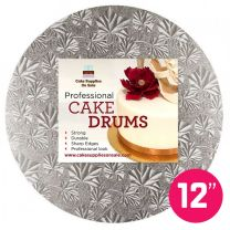"""12"""" Silver Round Drum 1/2"""""""