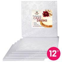 """12"""" White Square Drum 1/2"""", 6 count"""