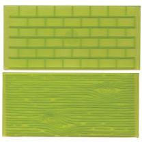 FMM Tree Bark and Brick Wall Impression Mat, Set 1