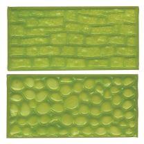 FMM Sugarcraft Impression Mat Set - Cobblestone & Stone Wall
