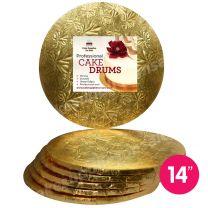 "14"" Gold Round Drum 1/2"", 6 count"