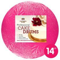"""14"""" Pink Round Drum 1/2"""""""