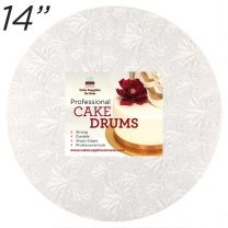 "14"" White Round Thin Drum 1/4"""