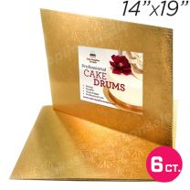 """14x19 Gold Thin Drum 1/4"""", 6 count"""