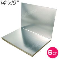 """14""""x19"""" Silver Cakeboard, 6 ct. - 2 mm thick"""