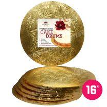 "16"" Gold Round Drum 1/2"", 6 count"