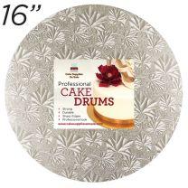 """16"""" Silver Round Thin Drum 1/4"""""""