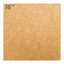 """Masonite Cake Board 16"""" Square"""