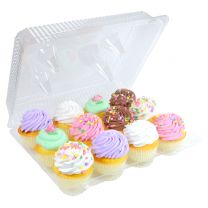 1 Dozen Cupcake Container (12 cavities), 100 ct