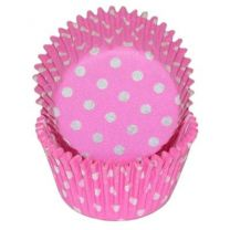 Pink Polka Dot Baking Cups, Count of 500