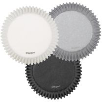 White/Black/Silver Standard Baking Cups, Count of 75