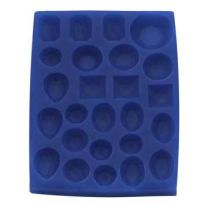 "Silicone Mold - Assorted Gem Set 1: 3/4"" x 1 1/4"" x 1/4"""