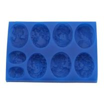 "Silicone Mold - Cameo Set 1"" x 1 1/2"" x 1/4"""