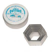 Plain Hexagon Cutter Set 6 pc