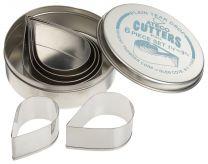 Plain Teardrop Cutter Set  6 pc