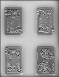 "3-1/2"" Playing Card Choc Mold"