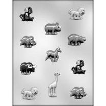 Zoo Animal Assortment Choc Mold