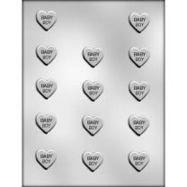 "1"" Baby Boy Heart Choc Mold"