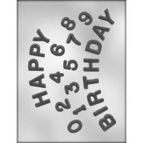 H-birthday/numbers Choc Mold
