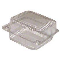 """5"""" Medium Square Hinge Container, 6 ct"""