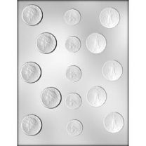 Assorted Coin Choc Mold