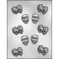 Comedy/Tragedy Mask Choc Mold