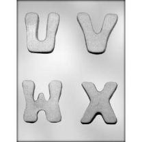 "2-3/4"" U-V-W-X Choc Mold"