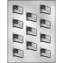 "1-5/8"" Flag Choc Mold"
