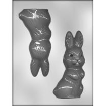 "6"" 3-D Rabbit Choc Mold"