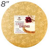 """8"""" Gold Round Thin Drum 1/4"""""""