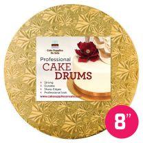 """8"""" Gold Round Drum 1/2"""""""