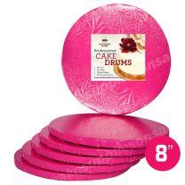 """8"""" Pink Round Drum 1/2"""", 6 count"""